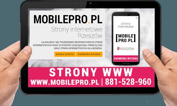 Strony mobilne WWW Rzeszów MobilePro.pl